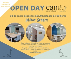 Post Flyer open day cango enero 2020